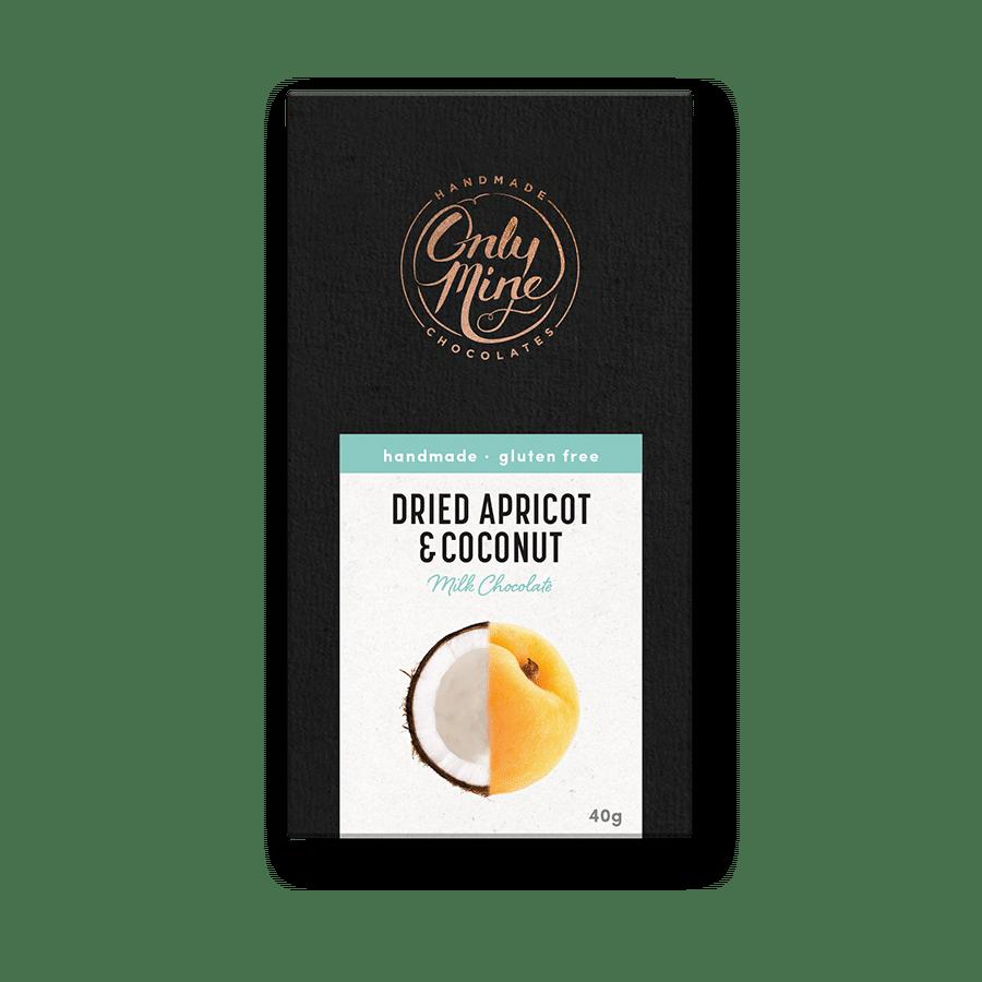 Dried Apricot & Coconut Milk Chocolate Bars